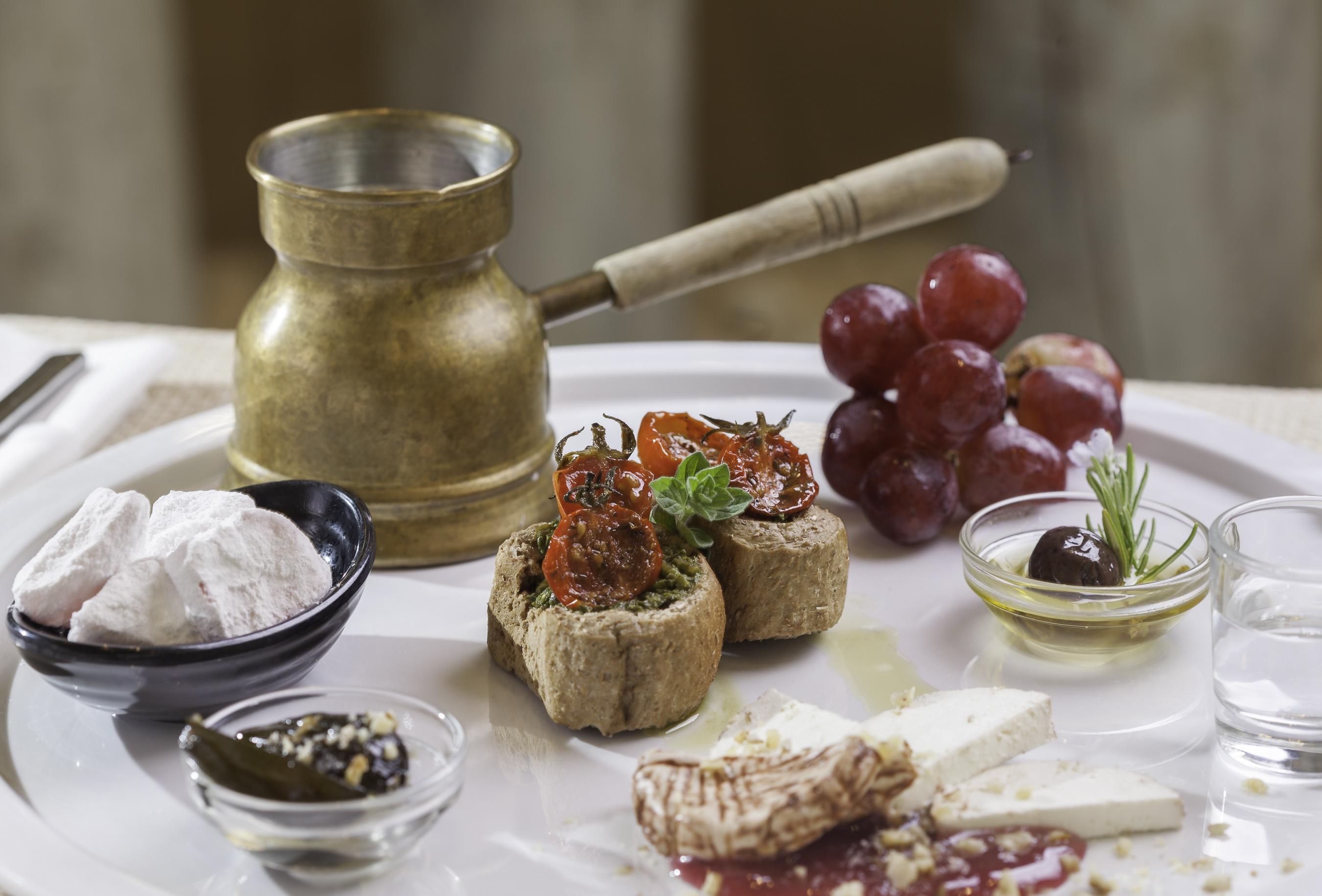 Traditional Greek breakfast